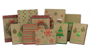 Foil Gift Boxes 10 count Christmas Value Pack