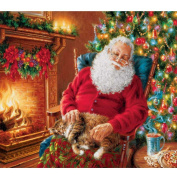 Blxecky 5D DIY Diamond Painting By Number Kits,Sleeping Santa Claus