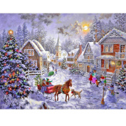 Blxecky 5D DIY Diamond Painting By Number Kits,Christmas hut