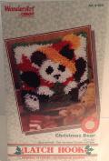 "WonderArt Quick & Easy Latch Hook Kit ""Christmas Bear"""