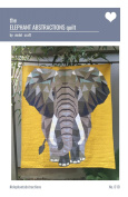 The Elephant Abstractions Quilt paper piecing pattern by Violet Craft