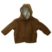 Disana Baby / Toddler Coat in Organic Boiled Merino Wool 86/92 12-24m hazelnut