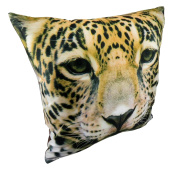 Decorative Pillow Cushion Throw Case Cover Polyester 15 x 15 Leopard Brown