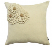 A1 Home Collections Square Floral Decorative Throw Pillows, Woollen
