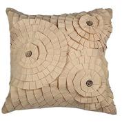 Layers Of flowers Pillow, 100% Cotton, 46cm x 46cm Decorative Pillow