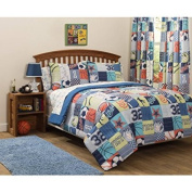Luxurious, Unique, Bright and Cool Sport Graphics Mainstays Kids Play Like A Champion Bed-in-a-Bag Bedding Set, FULL