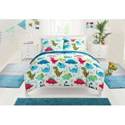 Colourful and Cute, Machine Washable Mainstays Kids Dino Roar Bed in a Bag Bedding Set, Full