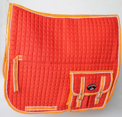 Horse Quilted ENGLISH SADDLE PAD Pockets Half Fleece Padded Dressage 7274