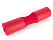 Faswin Barbell Squat Pad Olympic Barbell Pad for Hip Thrusts, Squats and Lunges, Red