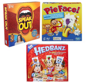 Christmas Family board games : Pie face , Speak out and Hedbanz