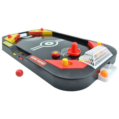 YUYUGO Desktop 2 in 1 Soccer and Knock Hockey Table Top Game - Classic Arcade Games Tabletop Soccer Ball Ice Hockey Shooting Fun Toys For Kids Boys Girls Adults Sports