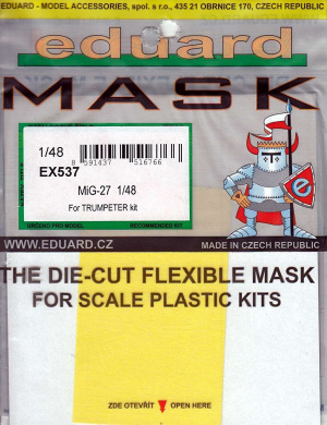 EDUEX537 1:48 Eduard Mask - MiG-27 Flogger (for use with the Trumpeter model kit) [MODEL KIT ACCESSORY]