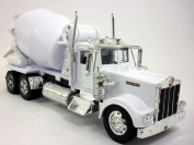 Kenworth W900 Cement Truck 1/32 Scale Diecast Metal and Plastic Model - WHITE