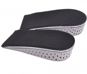3.3cm Unisex Memory Foam Breathable Invisible Height Increase Insole Insert Heel Lifting Shoe Pads Cushion