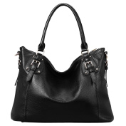 S-ZONE Womens Ladies' Vintage Genuine Soft Classic Leather Tote Hobos and Satchel Crossbody Shoulder Bags