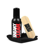 Sneaky Cleaner Kit - cleaner, brush and micro fibre cloth in a portable kit for cleaning shoes and trainers 150ml