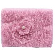 YiZYiF Newborn Baby Mohair Crochet Knit Wrap with Flower Headdress Photo Props