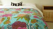 NANDNANDINI- Beautiful Kantha Throw, Kantha Quilts, Kantha Quilt, Vintage Kantha Quilt SUPERIOR QUALITY, Kantha Bedspread, Decorative Bedspread,