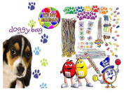 Puppy DogPaw Print Inspired (8) Pre-Filled Toy & Candy Party Favour Goodie Bags! Plus Bonus It's My Birthday Button! by Designware