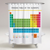 Amazing Shower Curtains - Updated 2017 Periodic Table of Elements Shower Curtain 70x70