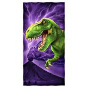 T-Rex Cotton Beach Towel by Dawhud Direct