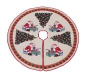 Primode Tree Skirt, Woven Jacquard 130cm Xmas Holiday Tree Ornaments