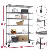 """180cm x 120cm x 18"""" Heavy Duty 6 Tier Layer Wire Shelving Rack Steel Shelf Adjustable"""