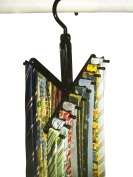 TIE RACK - Non-Slip and Space-Saving BELT HOLDER Closet Organiser GIFT SET Combo from Aristocrat Homewares - Includes Gift Bag, Holds up to 14 Belts and 20 Ties- The Perfect Gift!