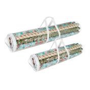 Elf Stor Christmas Wrapping Paper Wrap Storage Bag Set 100cm & 80cm
