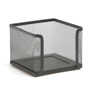 Aojia Mesh Collection Mesh Square Note Paper Desktop Accessory, Black Ly-9127a