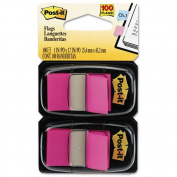 Post-it Flags Products - Post-it Flags - Standard Tape Flags in Dispenser, Bright Pink, 100 Flags/Dispenser - Sold As 1 Pack - Get attention and get results! - Mark and colour-code. - All flags are removable and repositionable. - With the convenient po ..