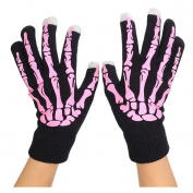 HENGSONG Winter Knitted Screen Touch Gloves Funny Wrist Fitness Hand Printed Gloves Mittens for Women Men