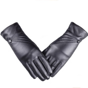 Lucoo Fashion comfortable Women Girl Warm Winter Luxurious Women Girl Leather Winter Super Warm Gloves Cashmere