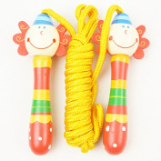 TeTyLife Colourful Cartoon Cable Speed Jump Ropes for Kids Handle Jump Rope With Wooden Handle