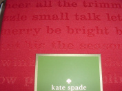 Kate Spade All the Trimmings Cranberry Red Plaecemats 4 pc