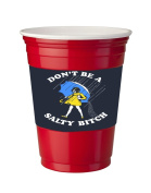 4 Pack of Vinyl Decal Stickers for Disposable Cups / Don't Be a Salty Bitch