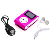 Iusun Mini Usb Clip Mp3 Player Lcd Screen Support 32Gb Micro Sd Tf Card + 1Pc Headset + 1Pc Data Cable