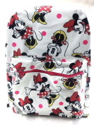 Disney Minnie Mouse White Allover Print 41cm Girls Large School Backpack