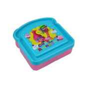 Dreamworks Trolls Sandwich Container Lunch Box - Princess Poppy and Cooper