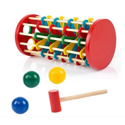 VKOPA Infant Toy Educational Toys Multicolour Ball Ladder Toy Knock Wooden Toy for Kids