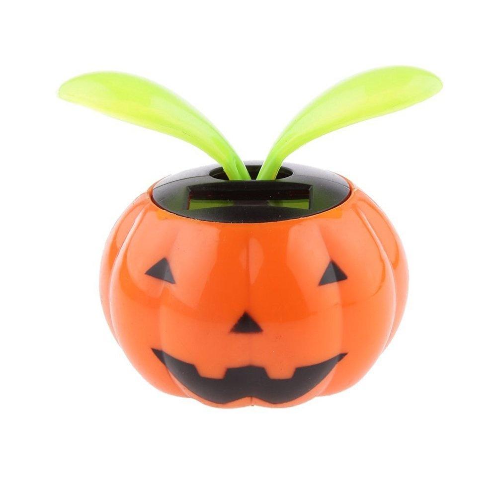 2eecc24b5523d Tinksky Solar Powered Pumpkin Shape Flower Pot Flip Flap Leaf ...