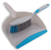 Household Dustpan and Brush for sweeping, cleaning floors in the home, kitchen, bathroom, bedroom, garage or office