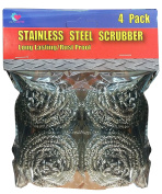 LavoHome Stainless Steel Scrubber Sponges 4 Pack