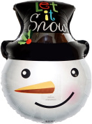 46cm Let It Snowman Amazing STRING-LESS Hovering ANTI-GRAVITY Balloon Christmas Party Favours