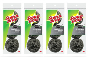 Scotch-Brite Stainless Steel Scouring Pad, 4-Pack, 12 Total Pads