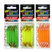 U-Lace Shoe Laces multi-coloured Orange Fluo, Jaune Fluo, Vert Fluo.