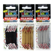 U-Lace Shoe Laces multi-coloured Noir, Metallic Silver, Metallic Gold