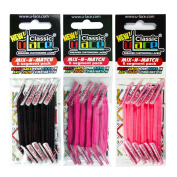 U-Lace Shoe Laces multi-coloured Noir, Fuschia fluo, Rose Fluo