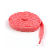 9mm FLAT WIDE SHOE LACES *8 LENGTHS & 31 COLOURS* SNEAKERS SKATE BOOTS TRAINERS (150cm, Pink