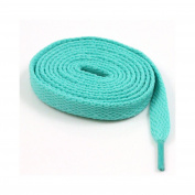 9mm FLAT WIDE SHOE LACES *8 LENGTHS & 31 COLOURS* SNEAKERS SKATE BOOTS TRAINERS (150cm, Blue/Green
